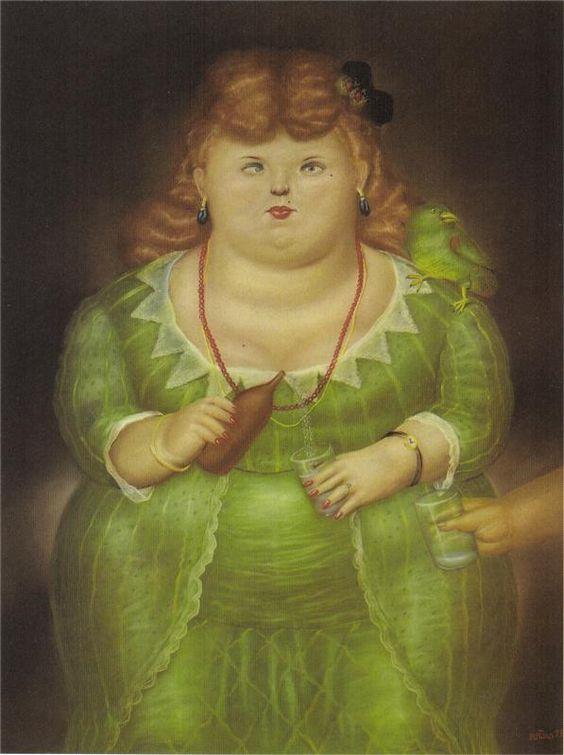 Mujer con un loro, 1973  - Fernando Botero - WikiArt.org