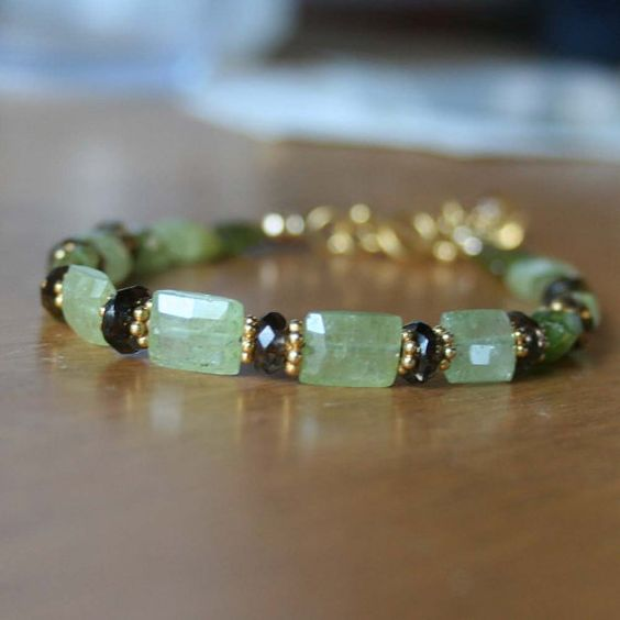 Grossular Green Garnet Smokey Quartz and by BrokenTeepeeDesigns, $87.95: Brokenteepeedesigns 87, Grossular Green, Garnet Smokey, Green Garnet, Smokey Quartz