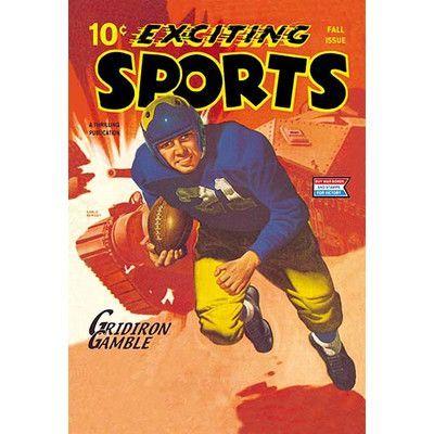 Buyenlarge 'Gridiron Gamble' Vintage Advertisement