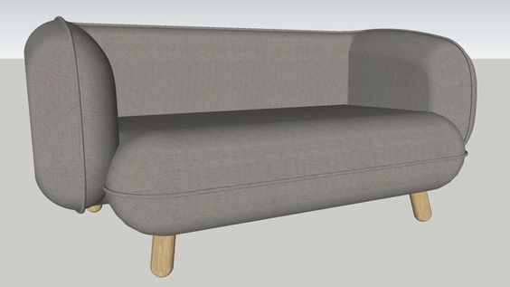 Basset 2 seater sofa by Versus - 3D Warehouse