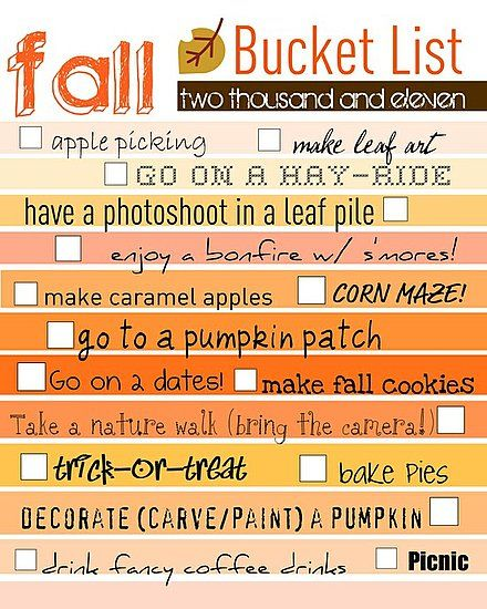 I love Fall!! Must do!