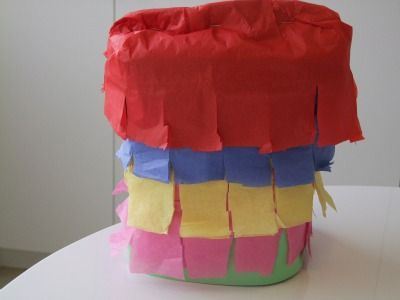We are totally digging this Cinco de Mayo Paper Bag Pinata party craft for kids!   The pinata is a such great kids party g
