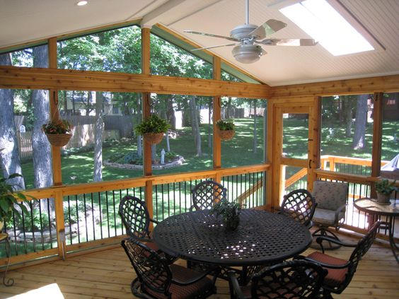 Deck ideas for enclosed porch archadeck of kansas city for Enclosed porches and sunrooms