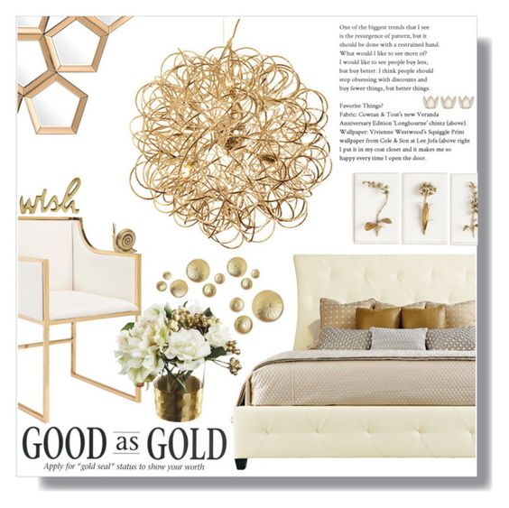 """""""Gold Room Decor"""" by skybeauty1109 ❤ liked on Polyvore featuring interior, interiors, interior design, home, home decor, interior decorating, Worlds Away, Tommy Mitchell, Eichholtz and Cultural Intrigue"""