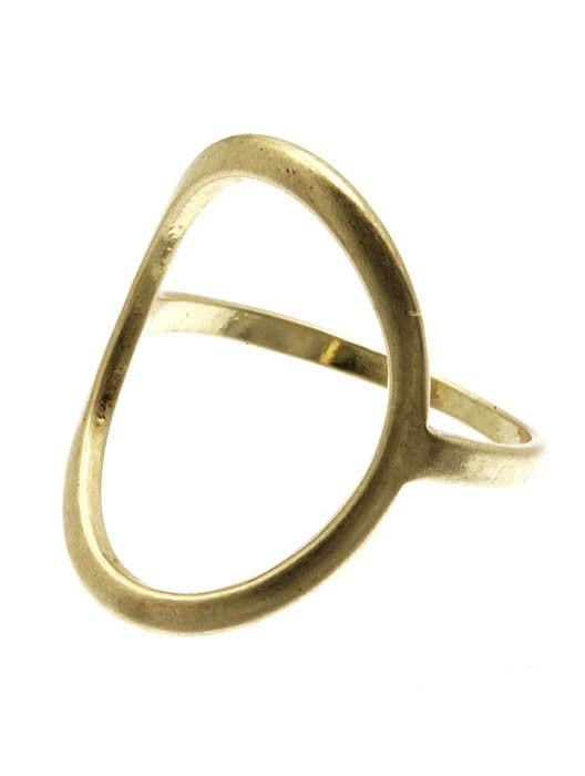 Open Circle Stone Ring