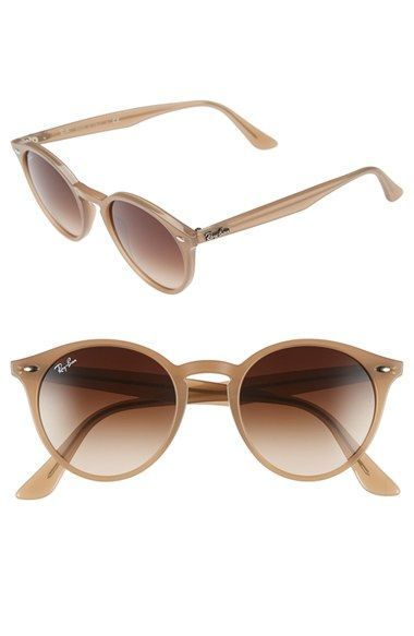 Ray Ban 'Highstreet' 51mm Round Sunglasses available at