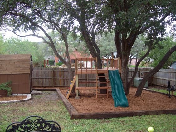 Fun kids backyard redo from zero landscaping to for Homemade forts outdoors