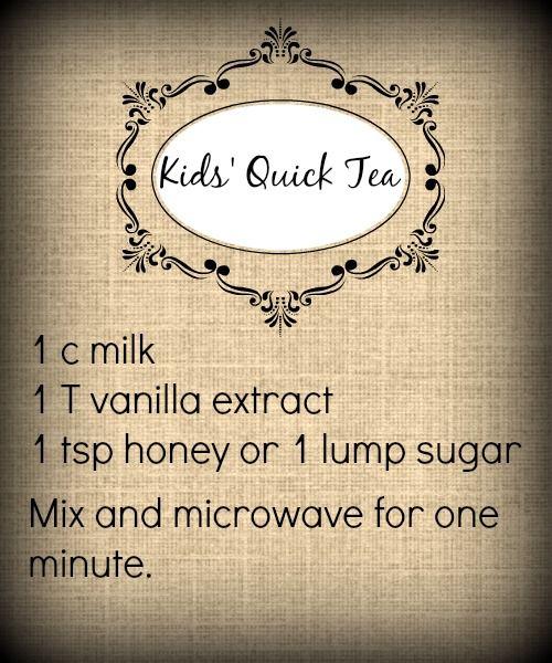 Quick Tea for Kids' Tea Parties - Shonna Slayton