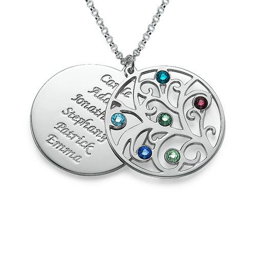 LOVE this! Saving it.. :) Filigree Family Tree Birthstone Necklace | MyNameNecklace
