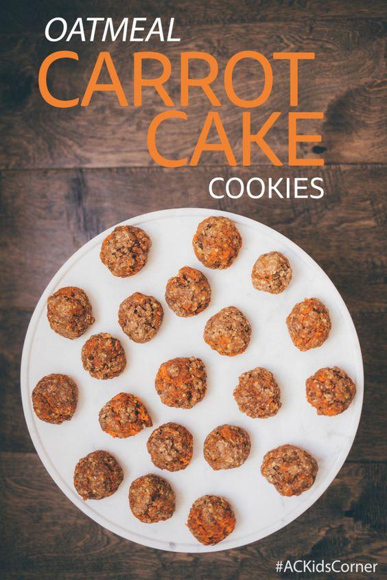 AC Kid's Corner, Healthy Cookie Recipe, Oatmeal Carrot Cake Cookies ...