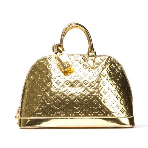 Louis vuitton gold leather miroir alma gm bag portero for Louis vuitton miroir alma