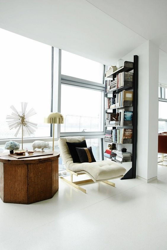 If a living room full of lounge chairs is better suited to your lifestyle than a sofa and coffee table, have at it. If you'd like to have a chaise lounge with a bookcase in your dining area, feel free. An unusual furniture plan should never be a concern if it works for you and the pieces you have—it's your home after all!