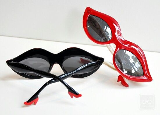 "Unique Sunglasses ""Legs, Lips & Eyes"" -Bruce Eye wear - Mae West's (lips) & Marilyn Monroe beauty"