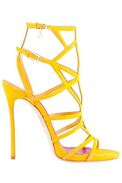 Dsquared2- 2015 Spring-Summer- yellow strappy heels. | luxuryshoeclub.com