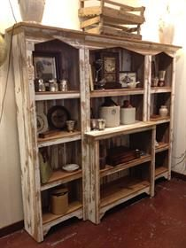 Amish 3 Piece Barnwood Bookcase Cabnets Pinterest Antiques