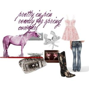 pretty in pink ready for spring cowgirl