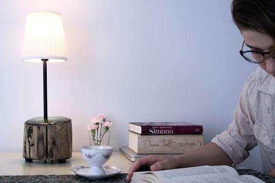 Lampka z orzechowego pnia. Żywica epoksydowa. Wooden lamp. Epoxy resin.  #epoxy #wood #woodwork #lamp #diy #drewno #żywica #lampa #orzech
