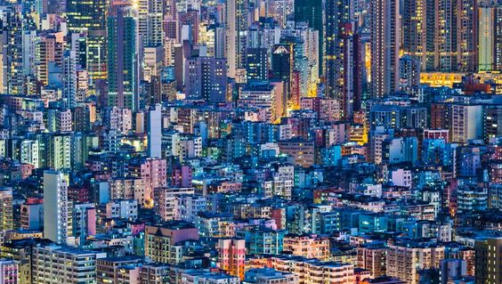 Cityscape in Hong Kong by #leungchopan Metropolitan Dreams: 5 Artists with Big #City Visions — The Shutterstock Blog