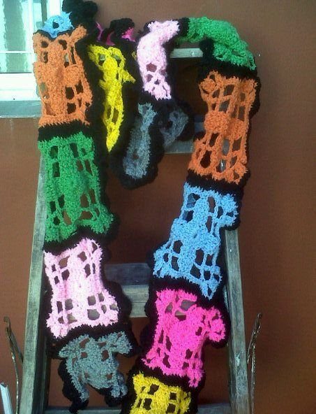 Mi modelo de bufanda - scarf super colour