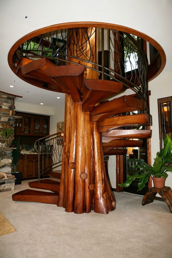 Not exactly my taste but definitely a cool spiral staircase!: