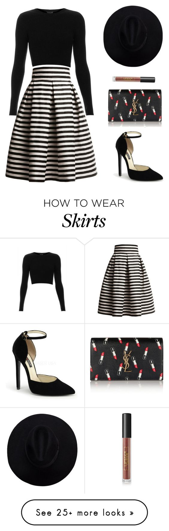"""Untitled #710"" by patrisha175 on Polyvore featuring Rumour London, Topshop, Yves Saint Laurent and Lipstick Queen"