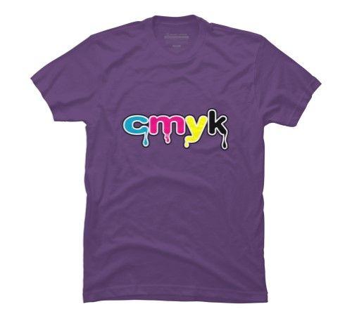 cmyk Men's 3X-Large Purple Graphic T Shirt - Design By Humans, Size: XXXL