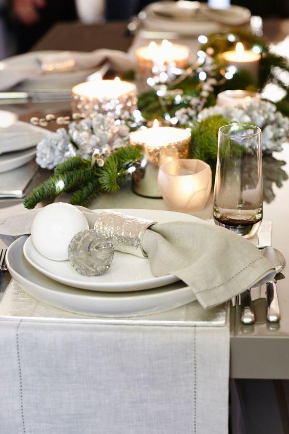 Marvelous Table De Noel Chic #9: Des Tables De Noël Chic Signées Kelly Hoppen