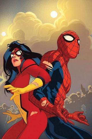 Spiderwoman & Spiderman