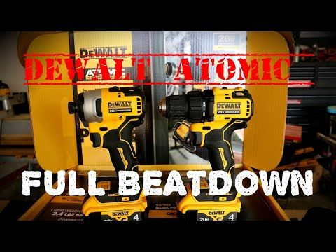 All New Dewalt Atomic Drill And Impact Driver Review Full Beat Down Dewalt Powertools Newtools Youtube Dewalt Drill Impact Driver