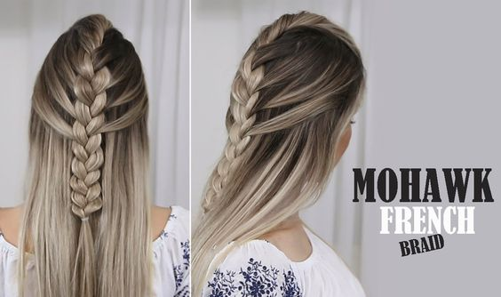 Mohawk French Braid - EASY
