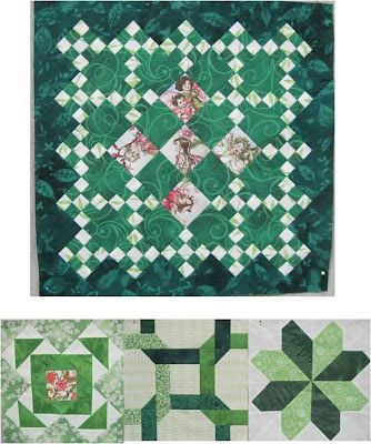 Ireland Quilt by Laura Roberts, in our collection of free patterns for St. Patrick's Day