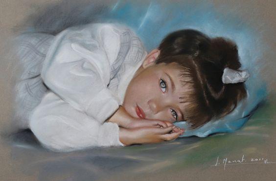 YAIZA. pastel 50x60