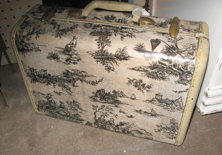 old piece of luggage