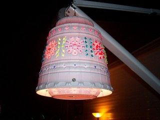 i remember making one of these with my grandma about 15 years ago ; diy-flower-pot-light