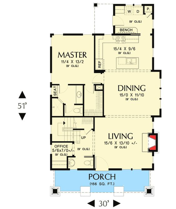 Plan 69541am Bungalow With Open Floor Plan Loft