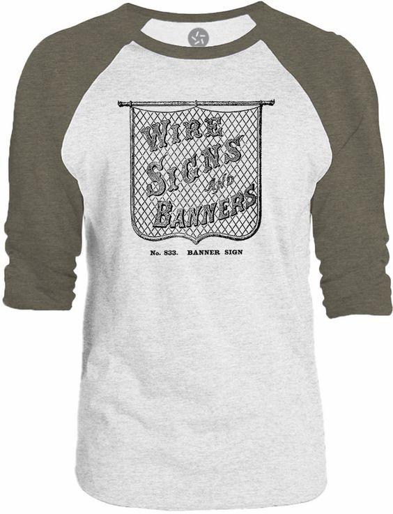 Big Texas Old Wire Sign 3/4-Sleeve Raglan Baseball T-Shirt