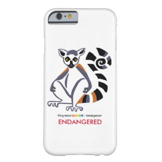 Ring-tailed lemur iPhone 6 Cover.From the range of endangered animal merchandise by WildthingsWorldWide, with 25% of sales donated to animal welfare organisations. See website for over 40 endangered animals to choose from. www.wildthingsworldwide.com.au