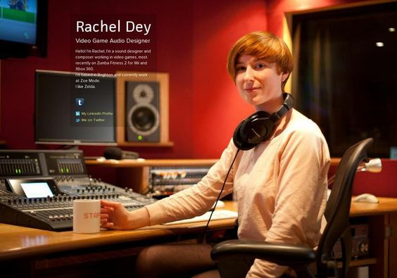 Rachel Dey's page on about.me – http://about.me/racheldey