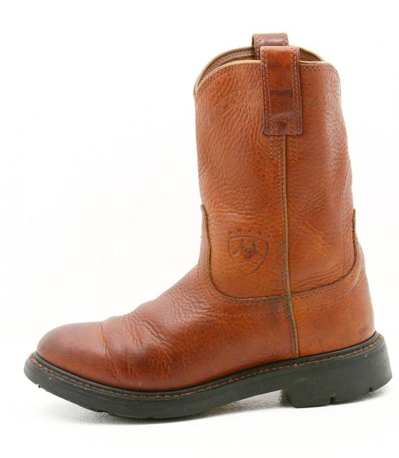 Ariat Mens cowboy boots size 8 D rust reddish brown leather ATS ...