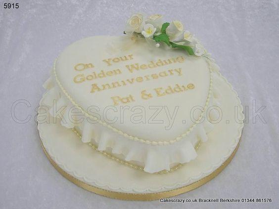 Golden Wedding Anniversary Cake http://www.cakescrazy.co.uk/details/wedding-anniversary-cake-5915.html