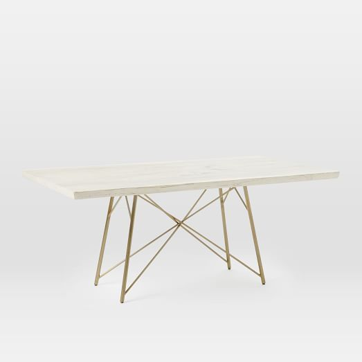 Sierra Live Edge Dining Table Whitewashed Dining Table Table
