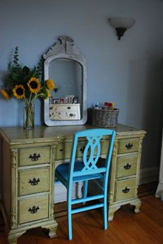 Chairs Turquoise and Desks on Pinterest