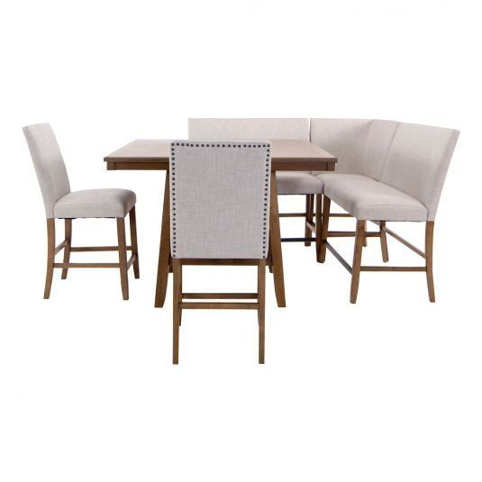 Hailey Natural Counter Height Table 2 Chairs Corner Bench 1000 Corner Dining Table Dining Table With Bench Counter Height Table
