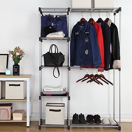 Freestanding Closet Organizer Double Rod Garment Rack Ho Https Www Amazon Com Dp B073rzksz5 Ref Cm Free Standing Closet Stand Alone Closet Garment Racks