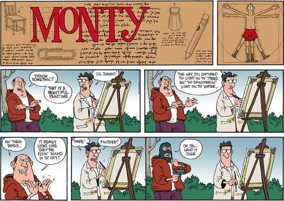Monty cartoon strip