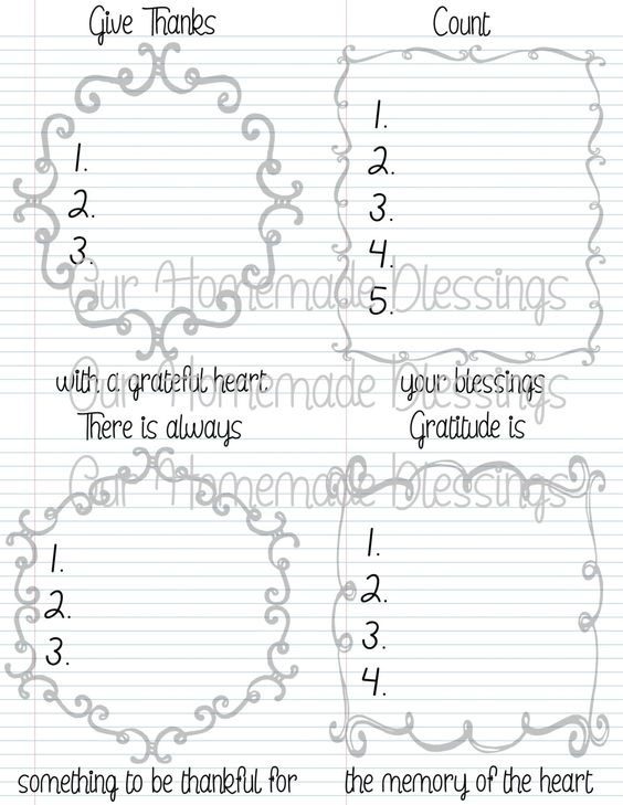 Gratitude Journal Instant Digital Download by OurHomemadeBlessings