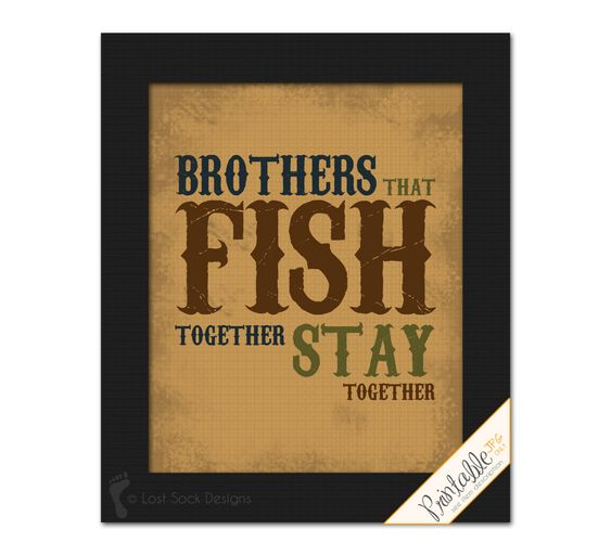 Fishing theme Brothers that Fish together Stay by LostSockDesigns