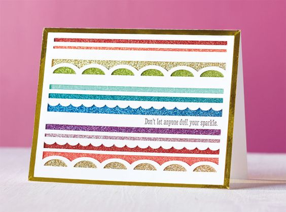 Close To My Heart Make It From Your Heart blog: Rainbows & Pots of Gold - Don't Dull Your Sparkle Card #C1629DiamondsAreForever #CTMHArtistry #CricutDesignSpace