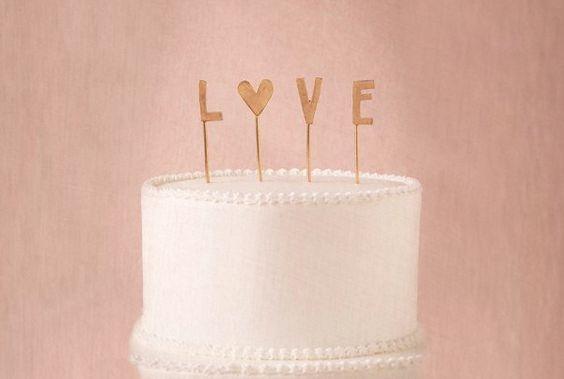 """Cute """"Love"""" Cake Topper"""
