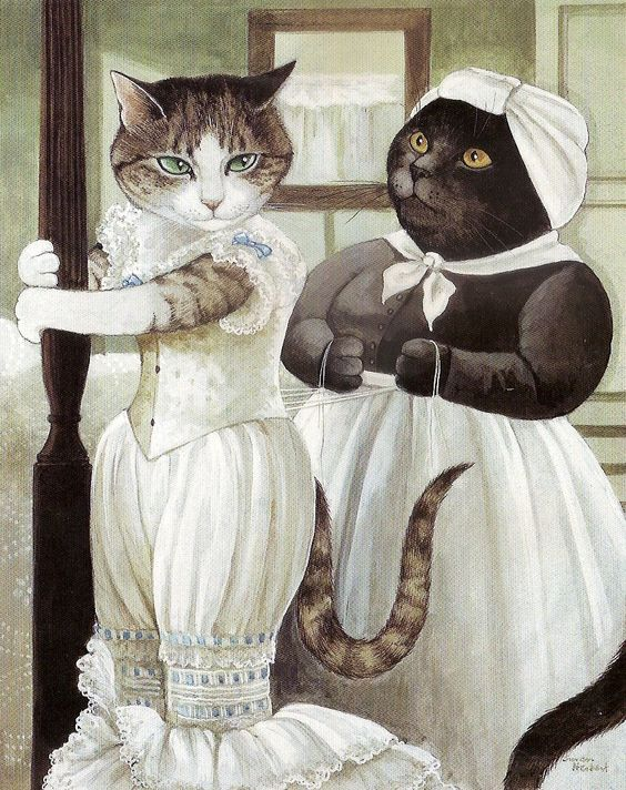 "Movie Cats: ""Cat-nipped at the waist"" by Susan Herbert (Gone With The Wind)"